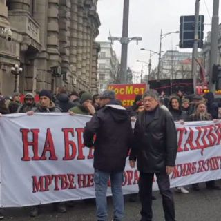 Protest against migrants and refugees held in Belgrade on Sunday